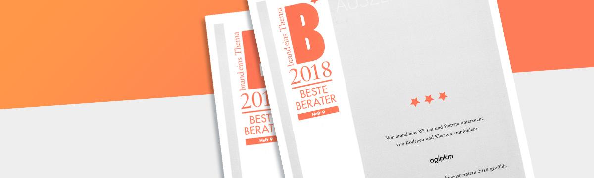 agiplan – Beste Berater 2018