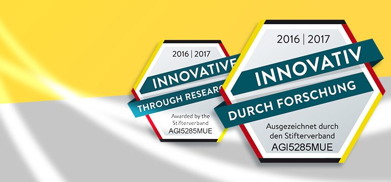 """Gütesiegel """"Innovation durch Forschung"""""""