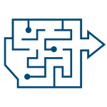 Materialflusssimulation icon