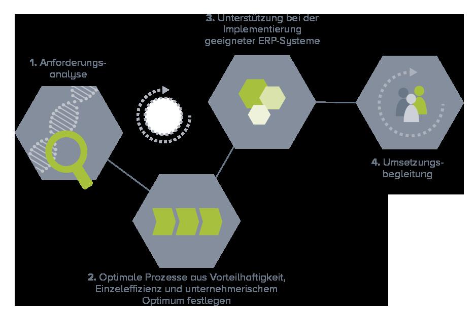 agiplan-Systematik bei ERP-Systemen