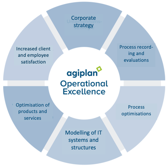 The Operational Excellence Model of agiplan.